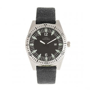 Elevon Jeppesen Pressed Wool Leather-Band Watch w/Date - Grey