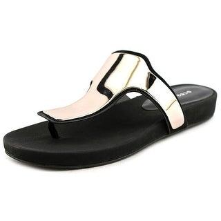 BCBGeneration Triumph Women Open Toe Leather Black Sandals