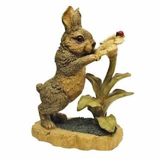 Design Toscano Flower Friends, Garden Rabbit Statue