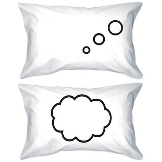 Thinking Cloud 300 Threadcount Standard Size 21 x 30 Matching Couple Pillowcases