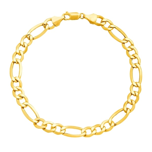 Just Gold Men's Figaro Link Bracelet in 10K Gold - YELLOW