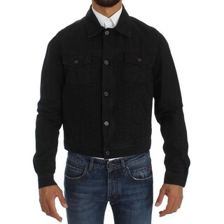 Cavalli Cavalli Blue Cotton Denim Jeans Jacket - it48-m