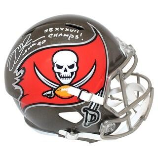 Mike Alstott Tampa Bay Buccaneers Replica Helmet SB Champs BAS