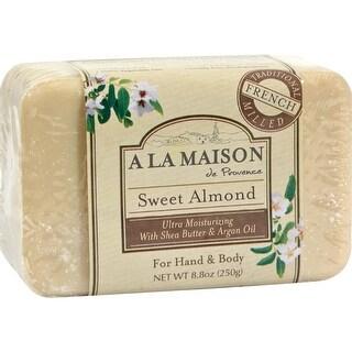 A La Maison - Bars Soap - Sweet Almond ( 4 - 8.8 OZ)