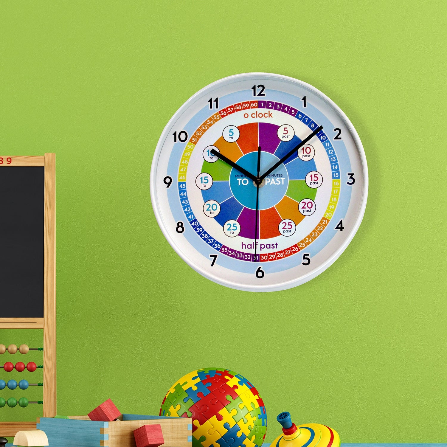 Walplus Colorful Kids Clock Time Learning Diy Art Home Decoration On Sale Overstock 31742889