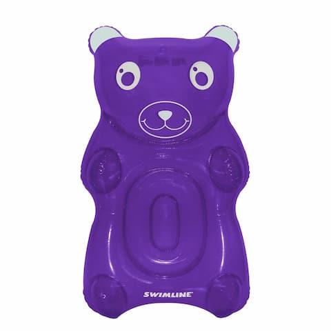 "60"" Purple Gummy Bear Swimming Pool Float"