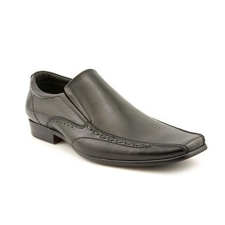 Steve Madden Takovr Black Leat Men Bicycle Toe Leather Loafer