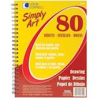 "80 Sheets - Simply Art Drawing Spiral Paper Pad 9""X12"""