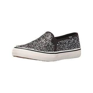 Keds Womens Double Decker Fashion Sneakers Glitter Slip On - 8.5 medium (b,m