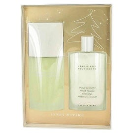 L'EAU D'ISSEY (issey Miyake) by Issey Miyake Gift Set -- 4.2 oz Eau De Toilette Spray + 3.4 oz After Shave Balm - Men