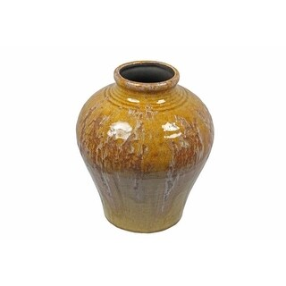 Ceramic Vase, Yellow