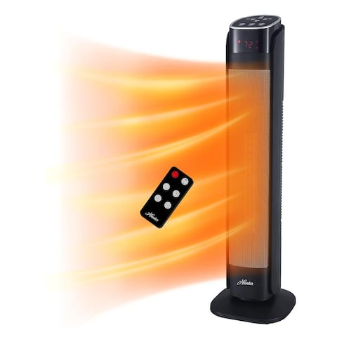 """Hunter 30"""" Deluxe Digital Ceramic Tower Heater with Remote Control"""