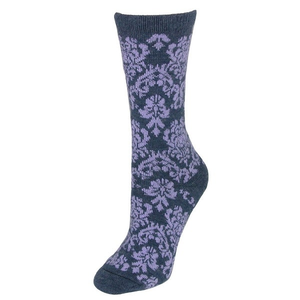 Wise Blend Women s Damask Floral Wool Blend Socks - Free Shipping On ... a1c5e2078440