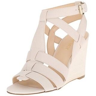 Nine West Women's Farfalla Leather Wedge Sandal