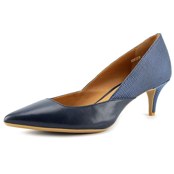 ed746ed9907 Shop Calvin Klein Patna Navy Pumps - Free Shipping On Orders Over ...