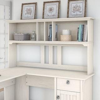 The Gray Barn Ermine 60-inch Hutch for L-shaped Desk in Antique White