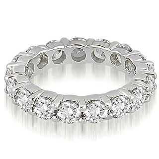 Classic 4 80 Cttw 14K White Gold Round Cut Share Prong Diamond Eternity Ring