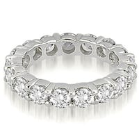 4.80 cttw. 14K White Gold Round Diamond Eternity Ring