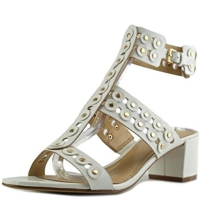 Marc Fisher Jullep Women Open Toe Leather White Gladiator Sandal