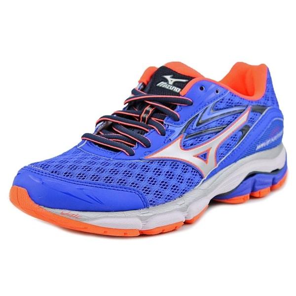 Mizuno Wave Inspire 12 Women Round Toe Synthetic Blue Running Shoe