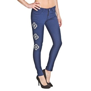 Romeo & Juliet Couture Womens Embroidered Low-Rise Skinny Jeans - 24