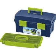 "16""X8.25""X8.25"" Blue & Green - Pro Art Storage Box W/Lift-Out Organizer Tray"