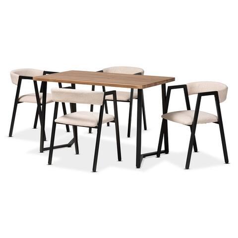 Delgado Modern and Contemporary 5-Piece Metal Dining Set