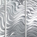 Statements2000 Extra Large 5 Panel Metal Wall Art Sculpture by Jon Allen - Hypnotic Sands 5P XL - Thumbnail 3
