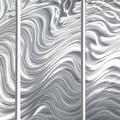 Statements2000 Silver Large Metal Wall Art Sculpture Panels by Jon Allen - Hypnotic Sands 5P - Thumbnail 4