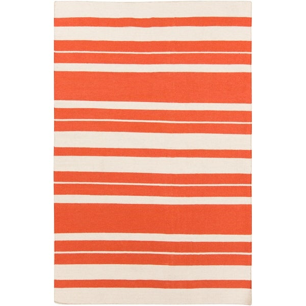 Olympia Flatweave Striped Area Rug. Opens flyout.