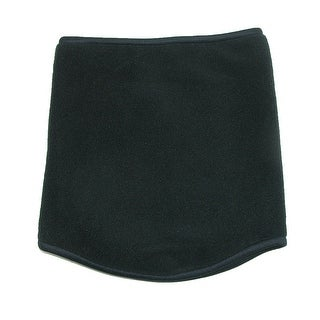 CTM® Fleece Neck Gaiter Scarf, Black - One Size
