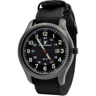 Smith & Wesson Cadet Watch Green, Rubber Strap 51MM 5ATM - Black