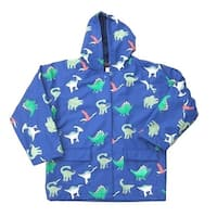 Little Boys Blue Dinosaurs Rain Coat 2T-6