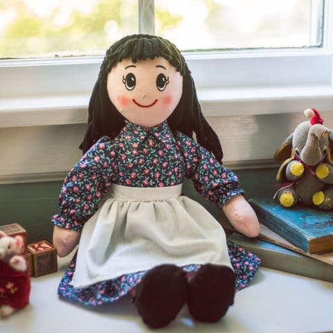 "The Queen's Treasures 18 Inch Litlle House on The Prairie ""Charlotte"" Rag Doll, Compatible with American Girl Doll Clothes"