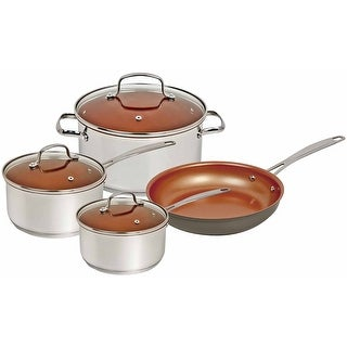 "Nuwave Duralon Ceramic Non-Stick 7-Piece Cookware Set (with 12"" Frying Pan)"