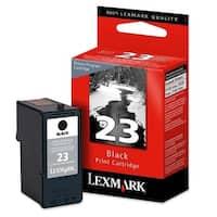 """Lexmark 18C1523 Lexmark No. 23 Return Program Black Ink Cartridge - Black - Inkjet - 215 Page - 1 Each"""