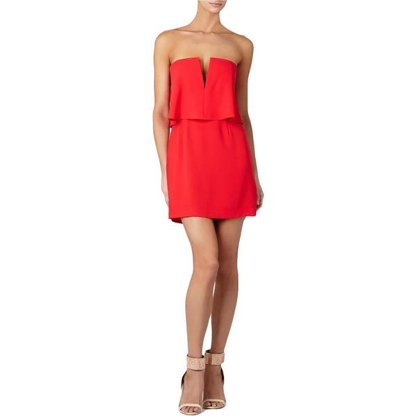 Bcbg Max Azria Womens Kate Party Dress Strapless