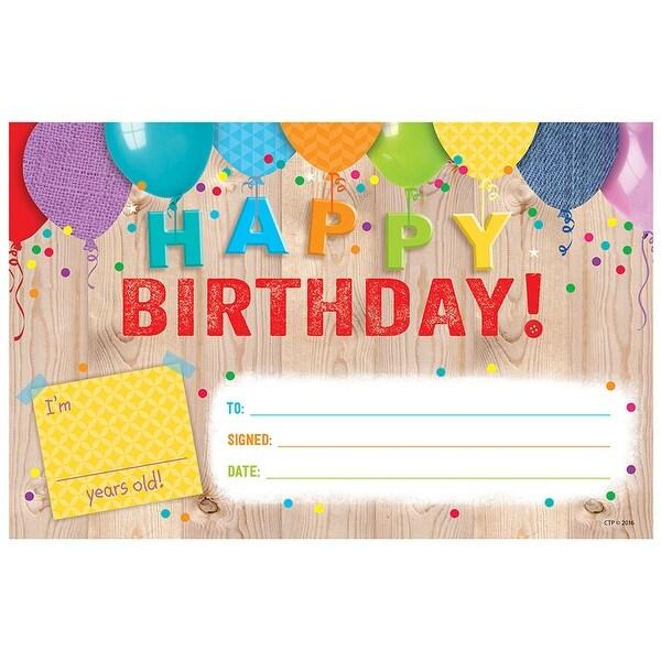 (6 Pk) Happy Birthday Award Upcycle Style