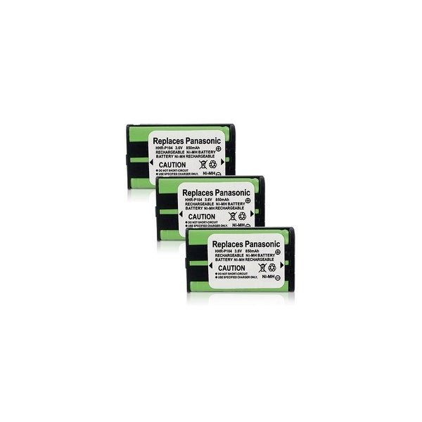 Replacement Battery For Panasonic KX-TGA520M Cordless Phones - P104 (850mAh, 3.6V, Ni-MH) - 3 Pack