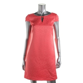 Tahari ASL Womens Regina Polyester Embellished Wear to Work Dress - 14