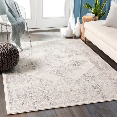 Uranus Distressed Medallion Area Rug