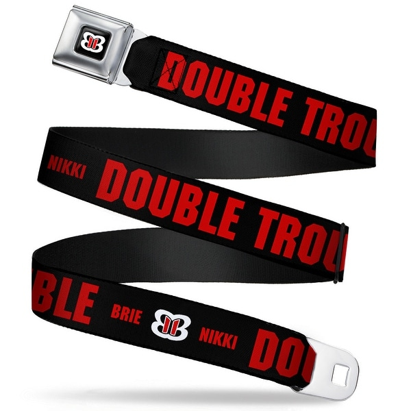 Bella Twins Bb Icon Full Color Black White Red Bella Twins Brie+Nikki Seatbelt Belt