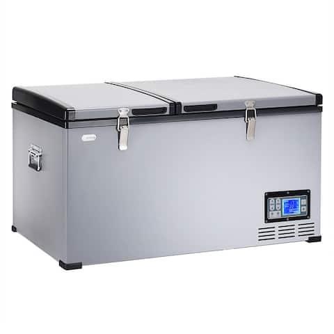 84-Quart Portable Electric Car Cooler Refrigerator / Freezer