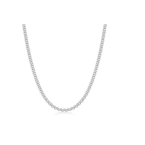 Pori 925 Sterling Silver 2MM BISMARK 030 Chain necklace