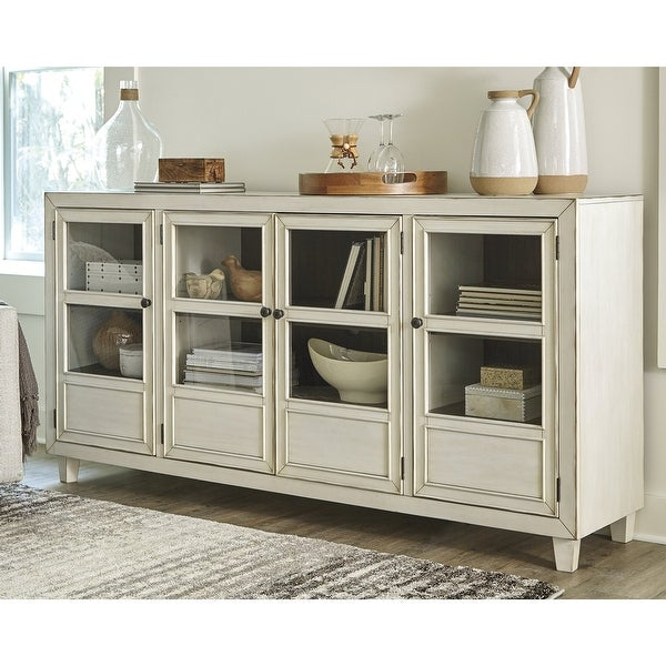 Deanford Antique White Accent Cabinet. Opens flyout.
