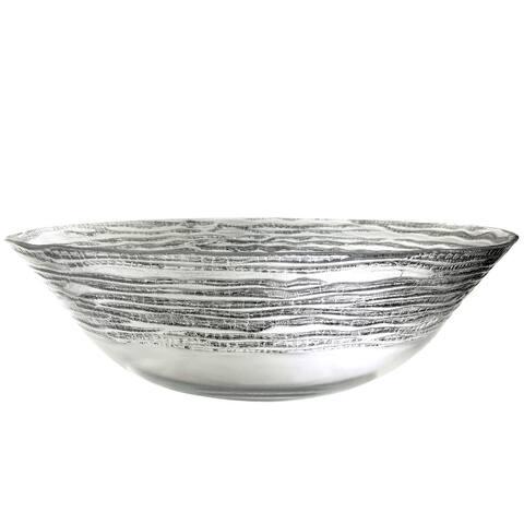 "Magara Gilded Glass Bowl - 12"""