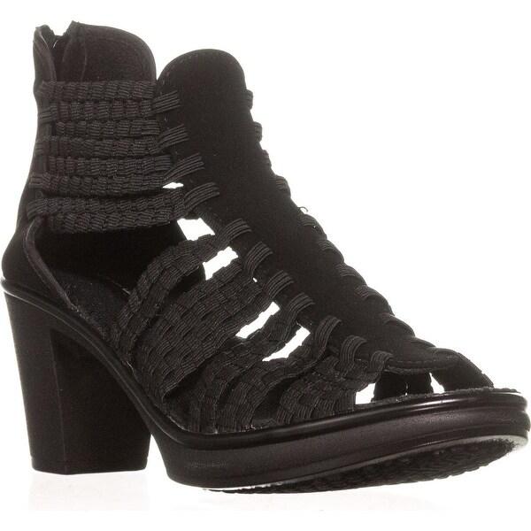 STEVEN Steve Madden Elvah Stretch T-Strap Sandals, Black Size 7