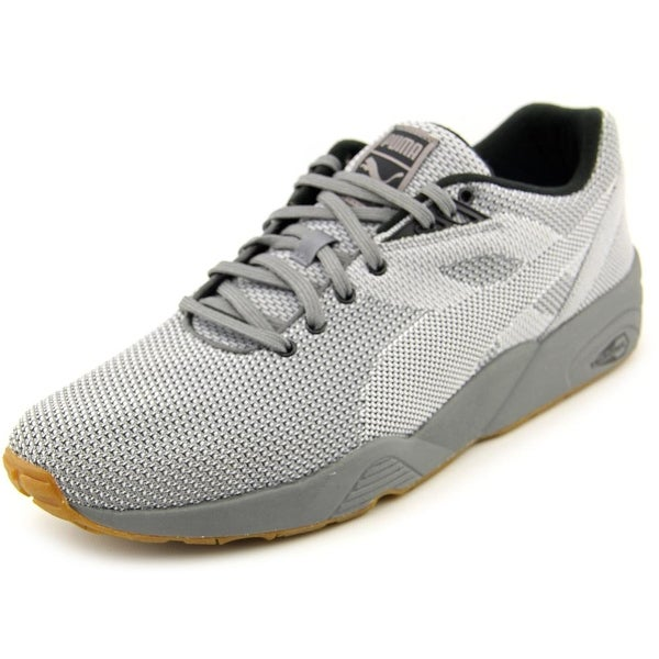 Puma R698 Knit Mesh v2 Men Round Toe Canvas Gray Sneakers