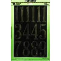 "Hy-Ko MM-5N Mylar Numbers, 3"", Gold"
