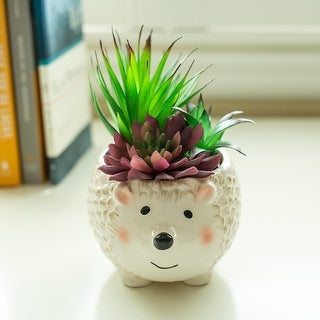 "Link to 6"" Hedgehog Ceramic Planter Similar Items in Planters, Hangers & Stands"